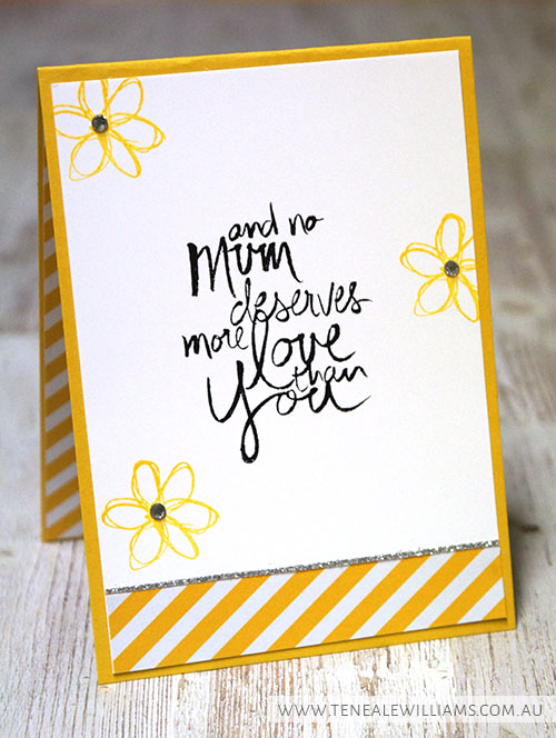 By Teneale Williams | Stampin' Up! Artisan Blog Hop | Mum's Love and Moonlight DSP