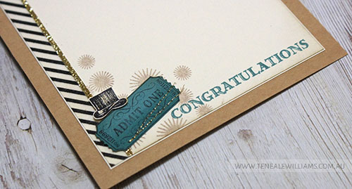 By Teneale Williams | Stampin'Up! Artisan Blog Hop | Guys Greetings