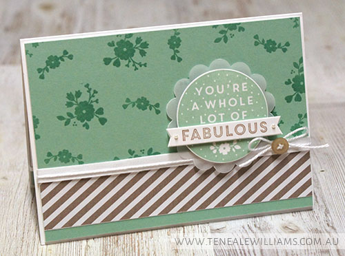 By Teneale Williams | A Whole Lot of Lovely, Stampin' Up!  Hostess Stamp Set 2015/2016 Catalogue