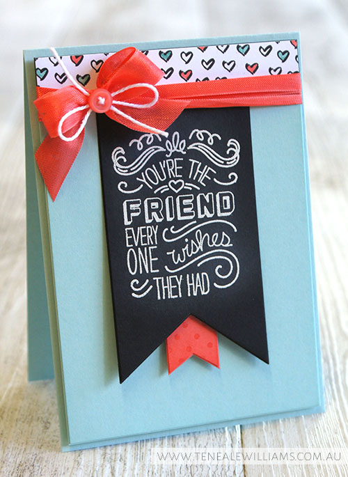 By Teneale Williams | Friendly Wishes Stamp Set | Stampin' Up! Artisan Blog Hop