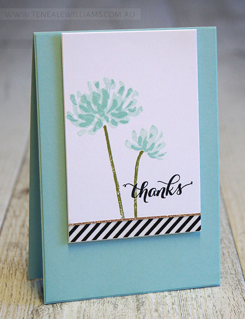 By Teneale Williams | Stampin' Up! Too Kind Stamp Set | INKspired Sketch #INK017