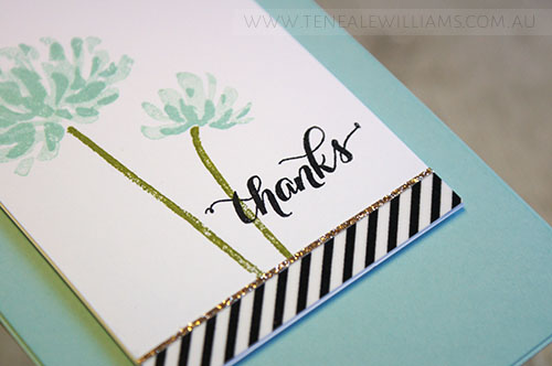 By Teneale Williams | Stampin' Up! Another Thank You Stamp Set | INKspired Sketch #INK017