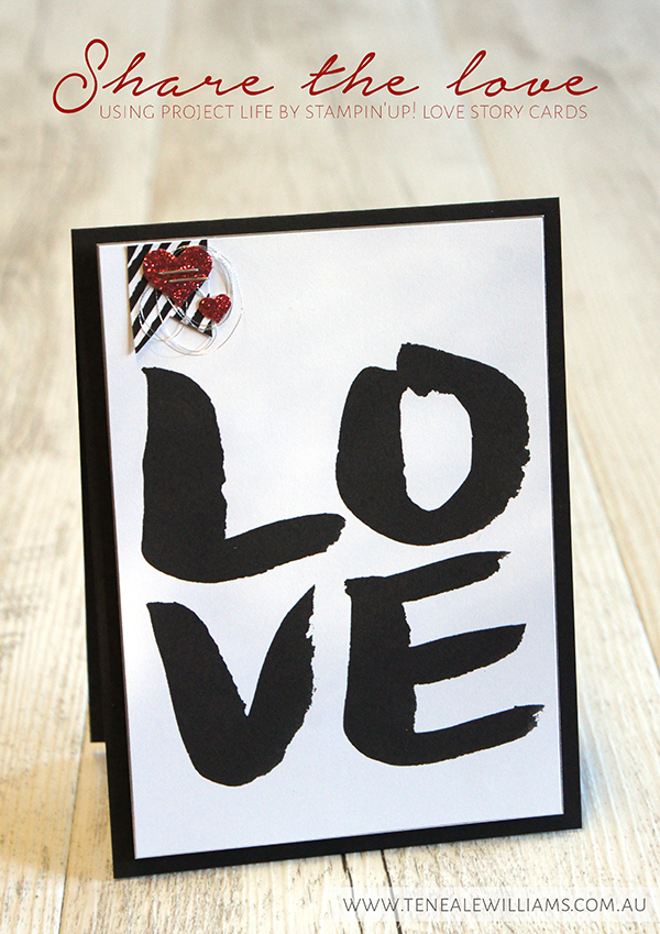 By Teneale Williams | Quick Wedding card using Love Story pocket card from Project Life by Stampin' Up!