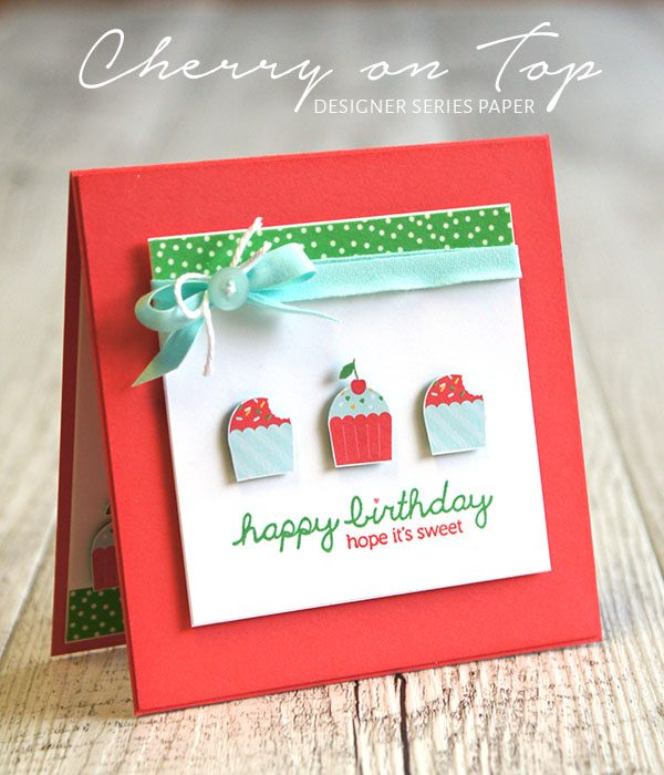 By Teneale Williams | Stampin' Up! Artisan Blog Hop | Cherry on Top DSP and Sprinkles on Top stamp set