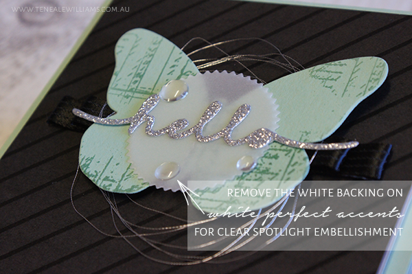 From www.tenealewilliams.com.au | TIP : White Perfect Accents from Stampin Up!