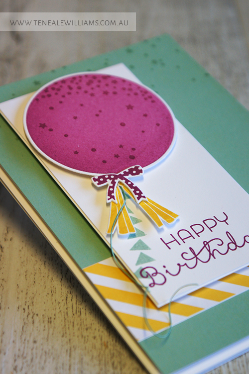 By Teneale Williams | INKspired Blog Hop 21 #INK021 | Celebrate Today Stamp Set from Stampin' Up!