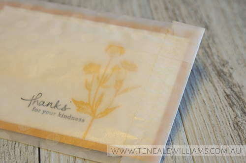 By Teneale Williams | Stampin' Up! Artisan Blog Hop | Endless Thanks card set using  Sketched Dots Tag a Bag