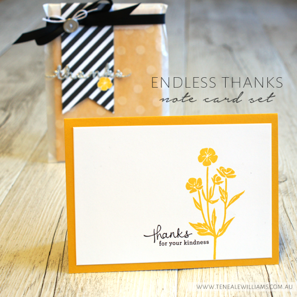 By Teneale Williams | Stampin' Up! Artisan Blog Hop | Endless Thanks card set with Wild about Flowers