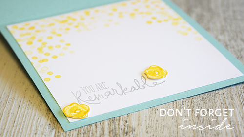 By Teneale Williams | Garden in Bloom and Remarkable You Stamp Sets from Stampin' Up! | Inside of card