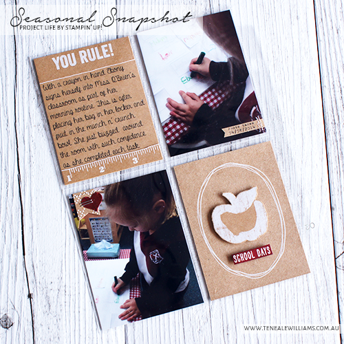 By Teneale Williams   Project Life By Stampin' Up! Seasonal Snapshot 2015 Collection #StampinUp #ProjectLife #PLxSU