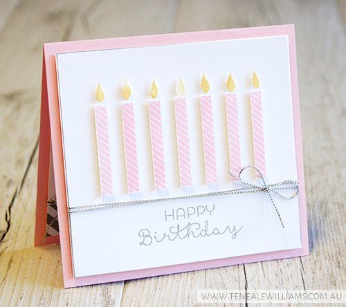 By Teneale Williams | Stampin Up! Materials | Birthday Yay and Cottage Greetings Stamp Set | Global Design Project Colour Challenge Smoky Slate, Pink Pirouette and So Saffron