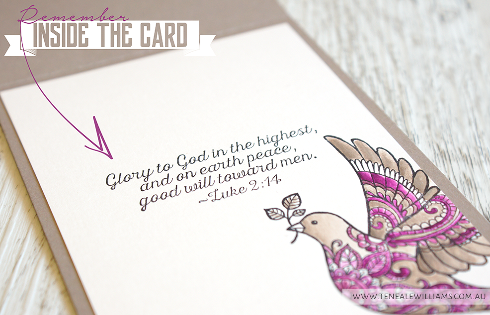 Teneale Williams | Stampin Up! Christmas 2015 Dove of Peace Card
