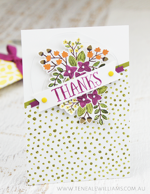 By Teneale Williams | Stampin' Up! Artisan Blog Hop | Thankful Forest Friends