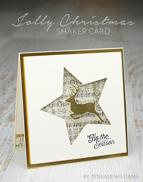 By Teneale Williams | Stampin Up Artisan Blog Hop | Jolly Christmas shaker card