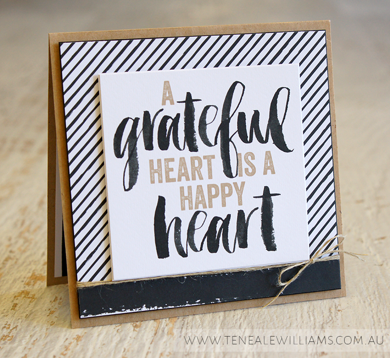 By Teneale Williams | Project Life by Stampin' Up! Seasonal Snapshot Card Collection | A grateful heart is a happy heart