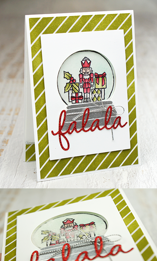 Teneale Williams shaker card featuring Seasonal Frame Thinlits Dies