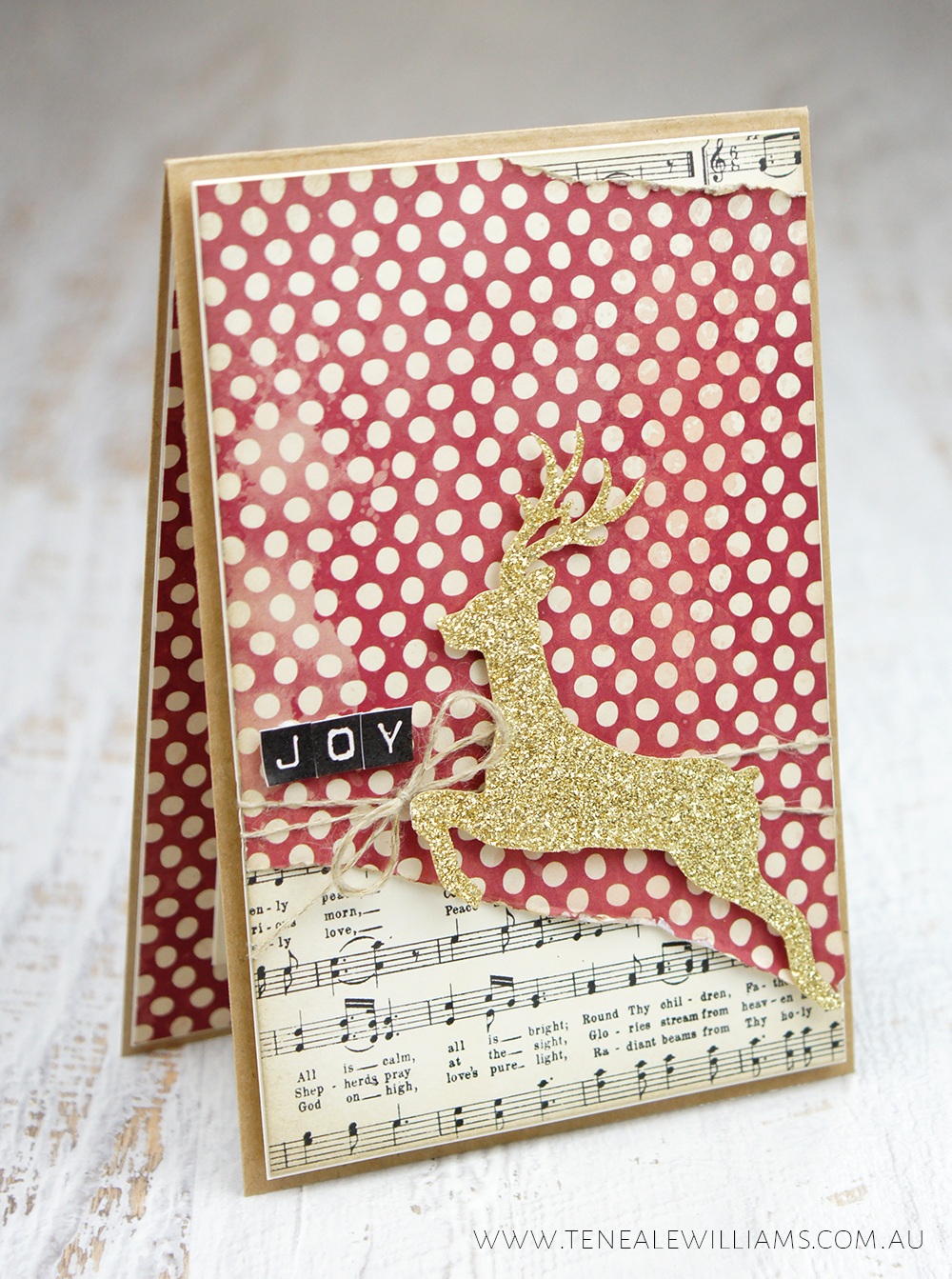 Teneale Williams | Hello December 2015 Project Life By Stampin Up Accessory Pack, Glitter Reindeer