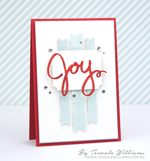 By Teneale Williams | INKspired Blog Hop 29 | Stampin' Up! Christmas card using Wonderful Wreath Framelits Dies