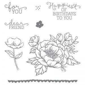 Birthday Bloom Stamp Set | 140658 | Clear $33 Australian