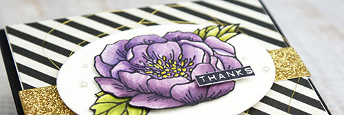 By Teneale Williams   Stampin' Up! Birthday Blooms Stamp Set 140658   Watercoloured with Perfect Plum, Eggplant, Hello Honey, Old Olive and Pear Pizzazz