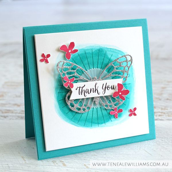 By Teneale Williams | Kinda Eclectic and Rose Wonder Stamp Sets | Butterflies Thinlits Dies