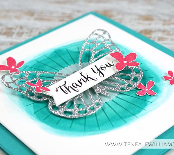 By Teneale Williams | Kinda Eclectic and Rose Wonder Stamp Sets | Butterflies Thinlits Dies