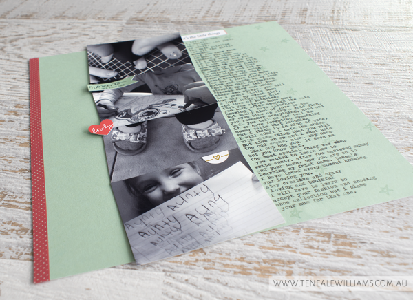 By Teneale Williams | Scrapbook challenge GDP | Project Life