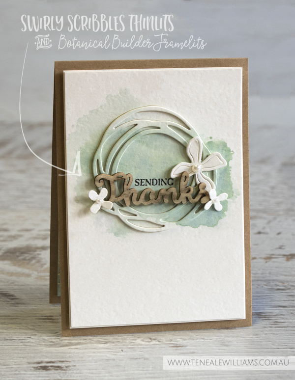 By Teneale Williams | Global Design Project, Case the Design Challenge | Swirly Scribbles Thinlits and Botanical Builder Framelits