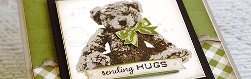 Stampin' Up! Baby Bear Stamp Set   Three layer image Crumb Cake, Soft Suede and Early Espresso