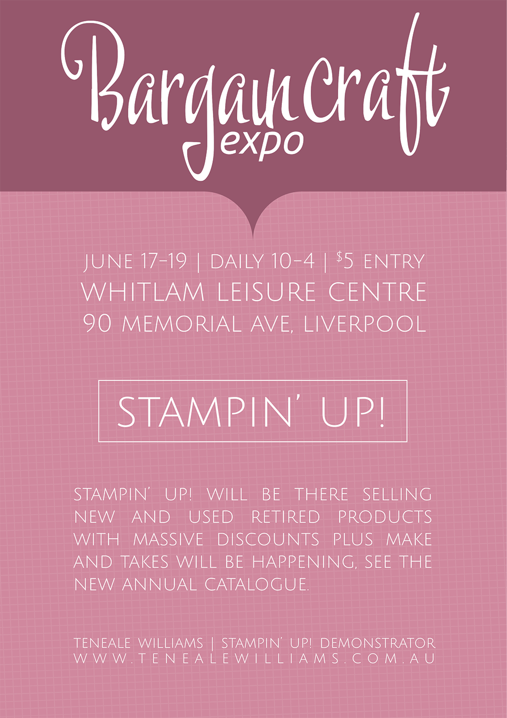 Bargain Craft Show | June 17 - 19 Liverpool NSW | Stampin' Up! selling retired items