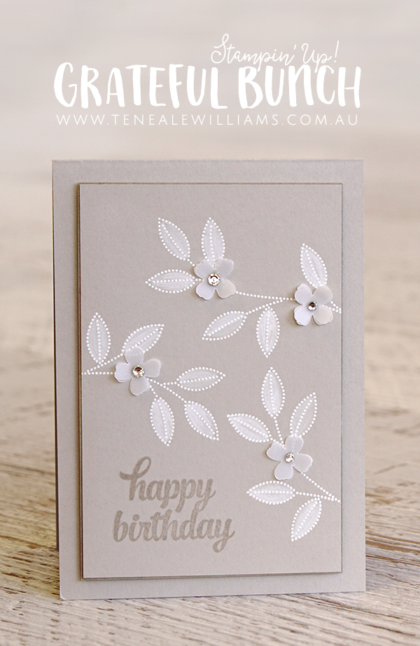 By Teneale Williams | Grateful Bunch Stamp Set from Stampin' Up!