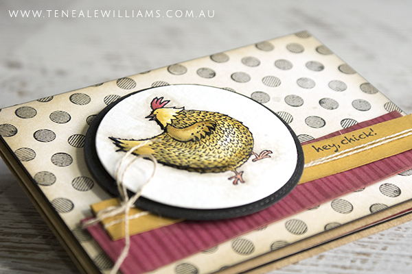 By Teneale Williams   In March 2017 you can earn Stamp Set Hey, Chick for FREE when you spend AU$90 on Stampin' Up! product, show online