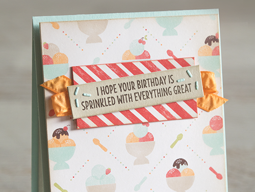 By Teneale Williams | Stampin' Up! Cool Treats Stamp Set and Frozen Treats Framelits | Pop up ice cream sundae