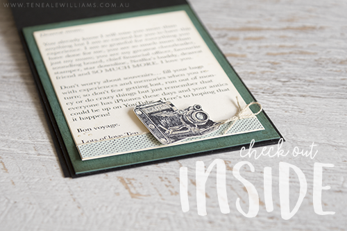By Teneale Williams | Stampin' Up! Demonstrator | Male card using Traveler Stamp Set