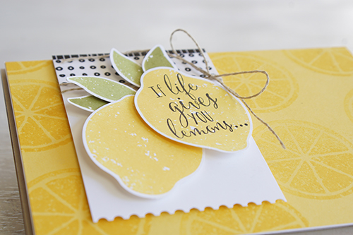 By Teneale Williams | Stampin' Up! Australia supplies used | Lemon Zest Stamp Set
