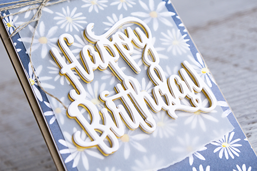By Teneale Williams | Stampin' Up! Australia | Delightful Daisy Designer Series Paper with Happy Birthday Thinlet