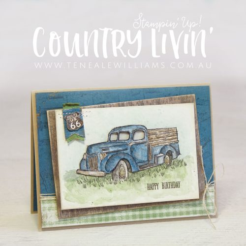 By Teneale Williams | One Wild Ride, Country Livin', Sheet Music and At Home With You stamp set from Stampin' Up!