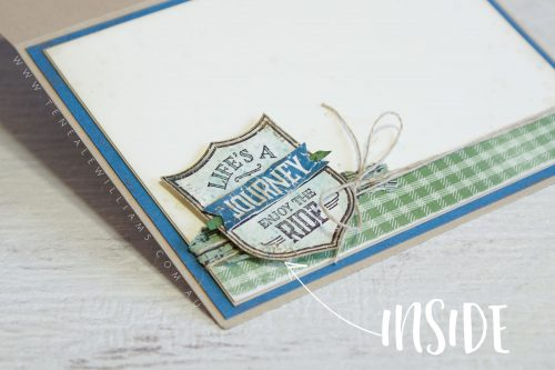 By Teneale Williams | One Wild Ride from Stampin' Up! | inside of card
