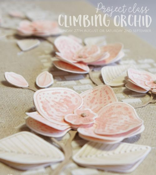 Climbing Orchid Canvas Class
