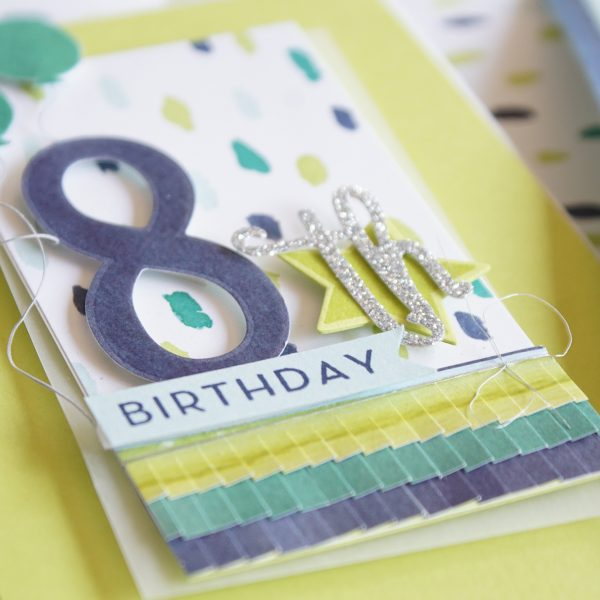 By Teneale Williams | Stampin' Up! Australia | Birthday card for 8th Birthday