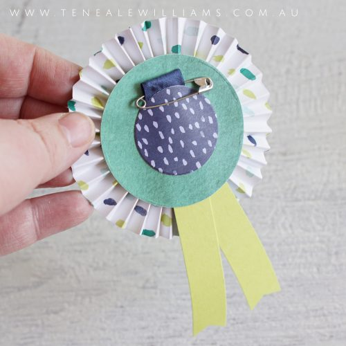 By Teneale Williams | Stampin' Up! Australia | Kids Birthday Badge Craft idea