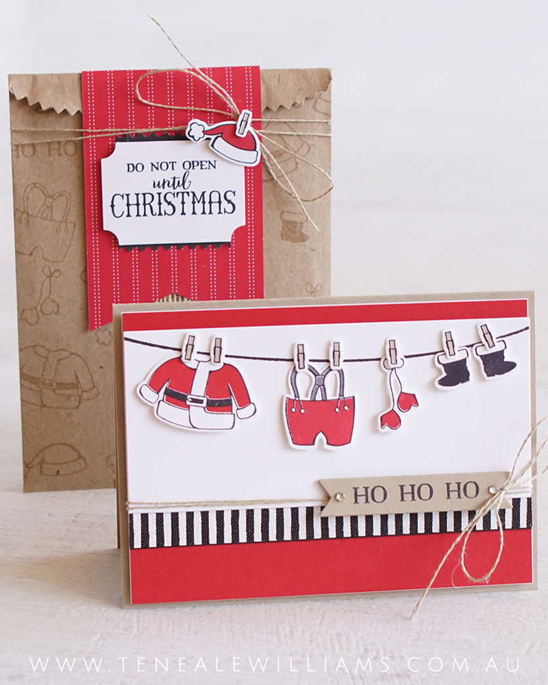 By Teneale Williams | Stampin' Up! Santa's Suit stamp set | Christmas 2017