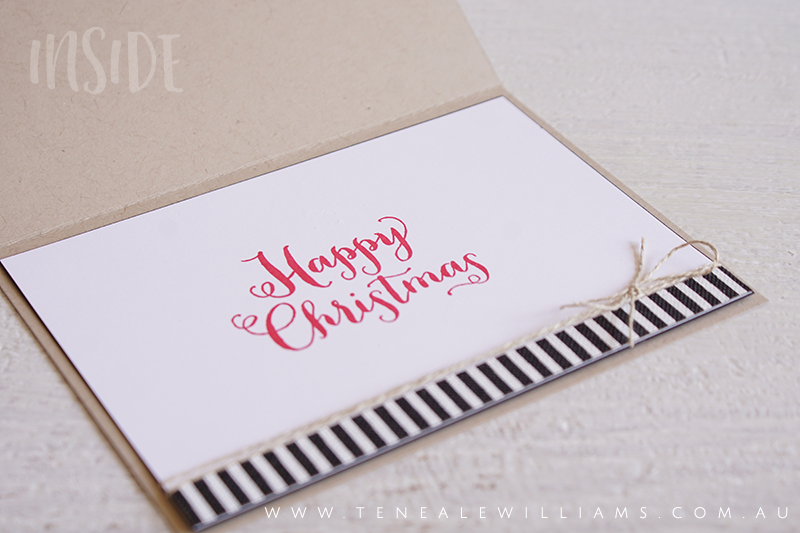 By Teneale Williams | Stampin' Up! Santa's Suit stamp set | Fun Christmas Card