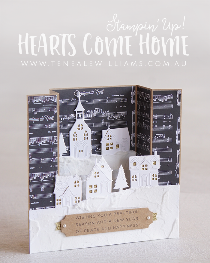 By Teneale Williams | Stampin' Up! Christmas Card | Hearts Come Home Stamp Set