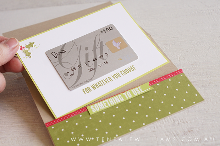 By Teneale Williams | Stampin' Up! Give a gift voucher this Christmas.