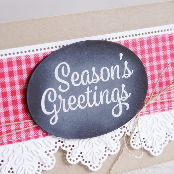 By Teneale Williams | Snowflake Sentiments from Stampin' Up! | County inspired Christmas card