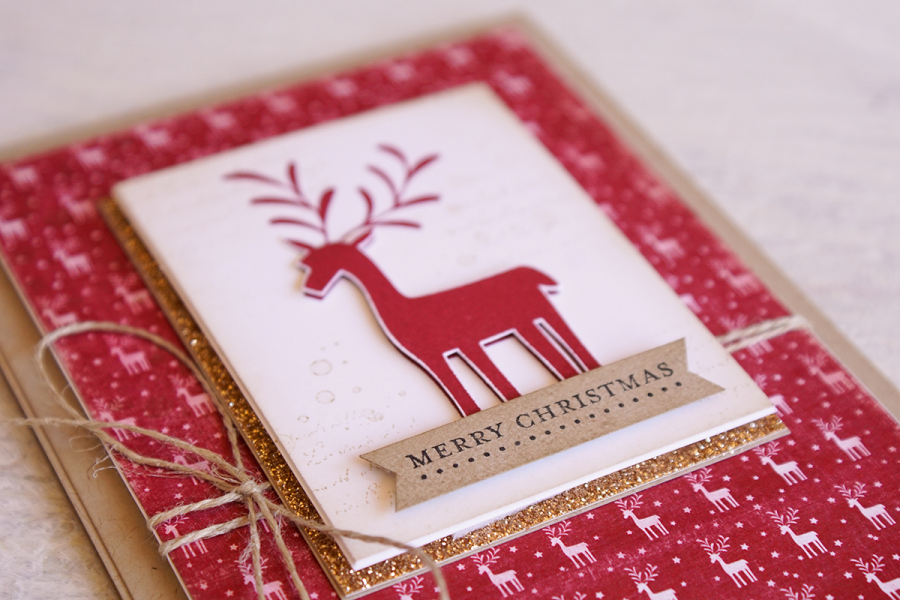 By Teneale Williams | Stampin' Up! Merry Mistletoe Stamp Set | Christmas Card in Cherry Cobbler and Crumb Cake