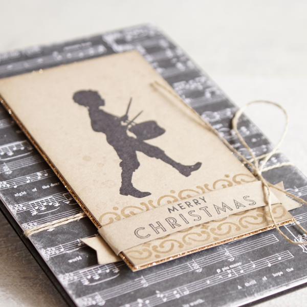 By Teneale Williams | Stampin'Up! Musical Season Bundle | Drummer Boy Vintage Christmas Card