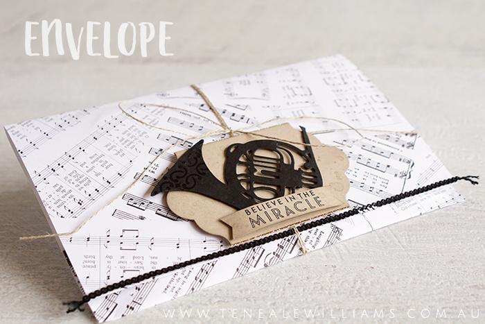 By Teneale Williams | Stampin'Up! Musical Season Bundle | Drummer Boy Vintage Christmas Card