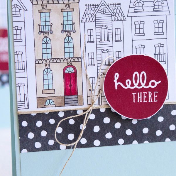 By Teneale Williams | Stampin' Up! Colour Blends used on Just add Color DSP